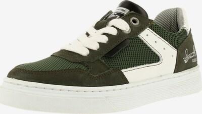 BULLBOXER Sneaker ' AOP004E5L' in dunkelgrün / weiß, Produktansicht
