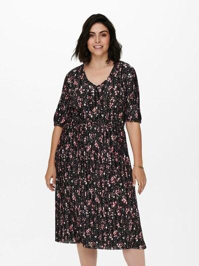 ONLY Carmakoma Kleid 'Jella' in pink / rosa / schwarz, Modelansicht