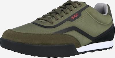 HUGO Sneaker 'Matrix' in oliv / dunkelgrün / schwarz, Produktansicht