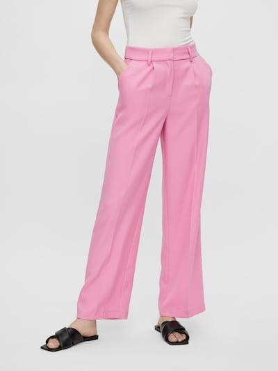 Y.A.S Pantalon à plis 'SERENA' en rose, Vue avec modèle