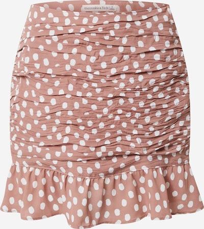 Gonna Abercrombie & Fitch di colore rosa antico / bianco, Visualizzazione prodotti
