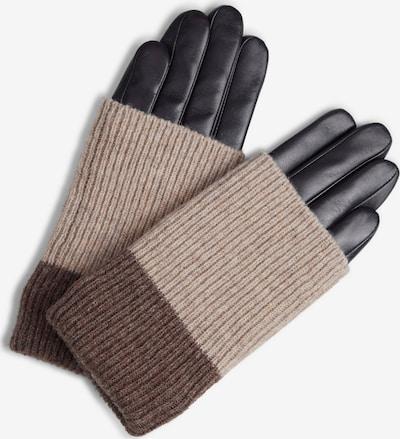 MARKBERG Fingerhandschuhe in braun / hellbraun / schwarz, Produktansicht