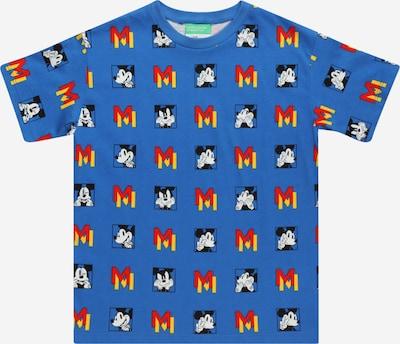 Tricou UNITED COLORS OF BENETTON pe albastru regal / galben / roșu / negru / alb, Vizualizare produs