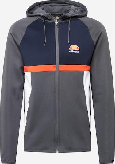 ELLESSE Sportsweatjacke in navy / dunkelgrau / dunkelorange / weiß, Produktansicht