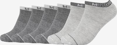MUSTANG Sneakersocken 'Matthew' im 6er Pack in grau, Produktansicht