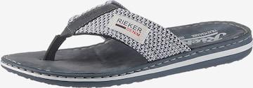 RIEKER T-Bar Sandals in Blue