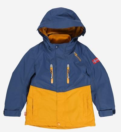 TROLLKIDS Jacke 'Bryggen' in blau / goldgelb, Produktansicht