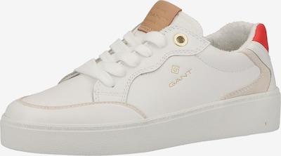 Sneaker low 'Lagalilly' GANT pe alb kitt / maro caramel / roșu pepene / alb, Vizualizare produs