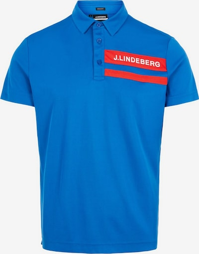 J.Lindeberg Poloshirt in azur, Produktansicht