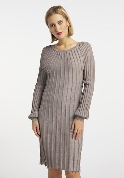 Rochie tricotat usha BLACK LABEL pe grej, Vizualizare model