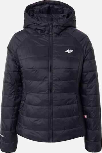4F Sportjacke in schwarz / weiß, Produktansicht