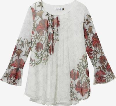 Desigual Bluse 'SHEILA' in hellgrün / rostrot / karminrot / weiß, Produktansicht