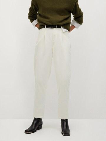 Pantalon à pince 'Panna' MANGO en beige