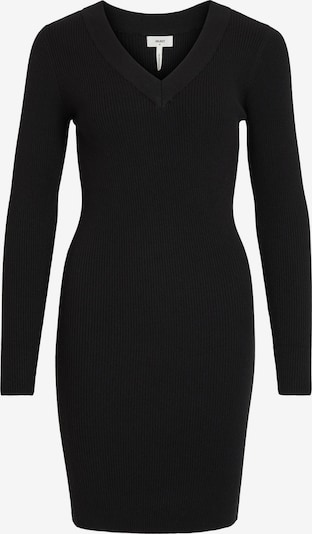 OBJECT Gebreide jurk 'Fae' in de kleur Zwart, Productweergave