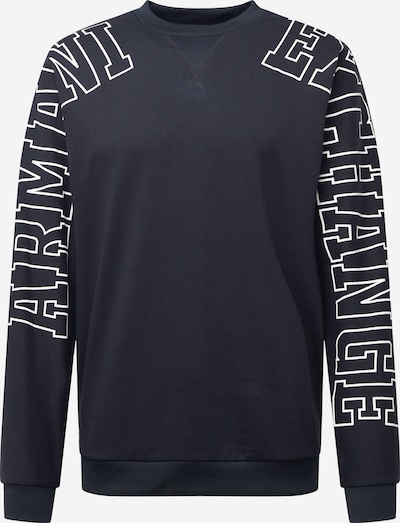 ARMANI EXCHANGE Sweatshirt in navy / weiß, Produktansicht