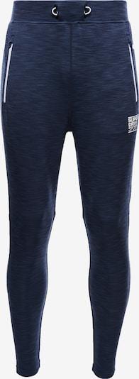 Superdry Pantalon de sport en bleu chiné / blanc, Vue avec produit
