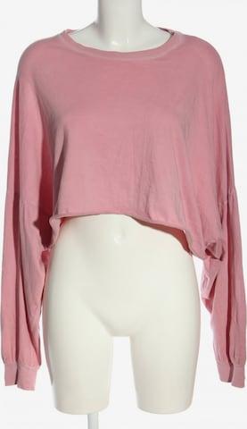 Bershka Sweatshirt in S in Pink