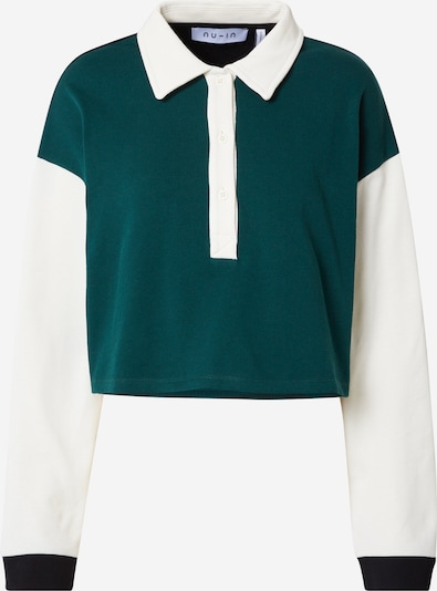 NU-IN Shirt in tanne / schwarz / weiß, Produktansicht