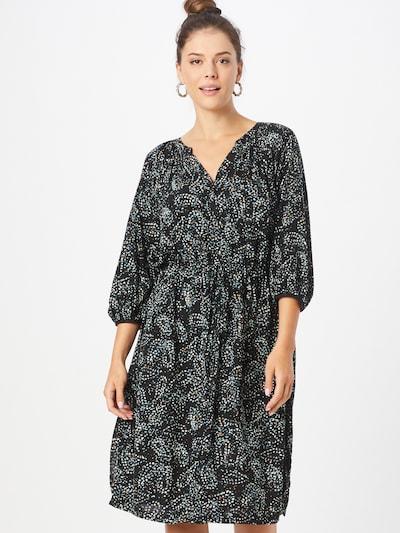 s.Oliver Skjortklänning i opal / mörkgrå / petrol / svart / vit: Sedd framifrån