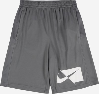 NIKE Sportshorts in grau / weiß, Produktansicht