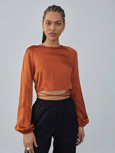 LeGer by Lena Gercke Blusa 'Ina' en marrón rojizo, Vista del modelo