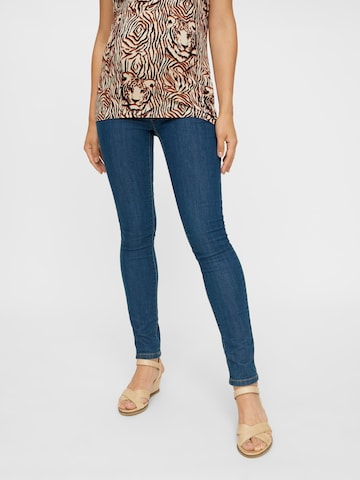 MAMALICIOUS Jeans 'Julia' in Blauw