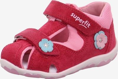 SUPERFIT Sandale 'FANNI' in hellblau / hellpink / rot, Produktansicht