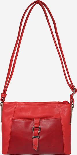 TOM TAILOR Чанта за през рамо тип преметка 'Lone' в винено червено / светлочервено, Преглед на продукта