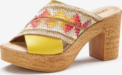 LASCANA Pantolette in braun / gelb / rot / weiß, Produktansicht