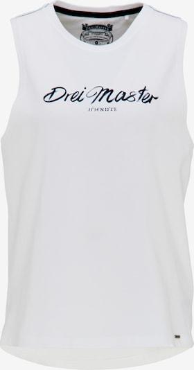 DreiMaster Vintage Top in schwarz / weiß, Produktansicht