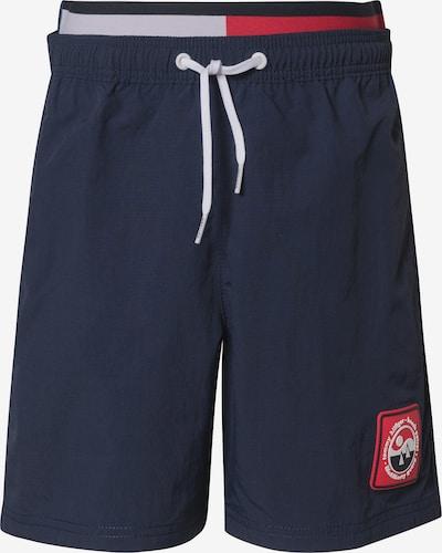 TOMMY HILFIGER Badeshorts in nachtblau / rot, Produktansicht