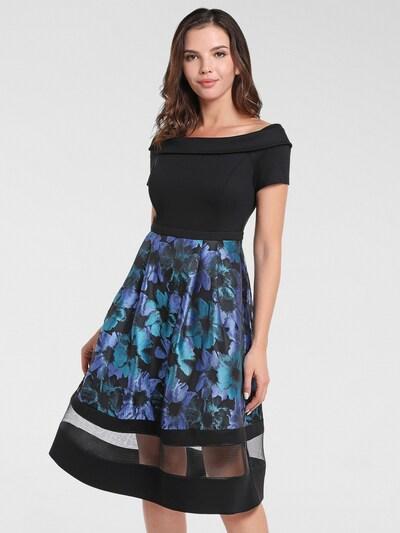 APART Kleid in himmelblau / schwarz, Modelansicht