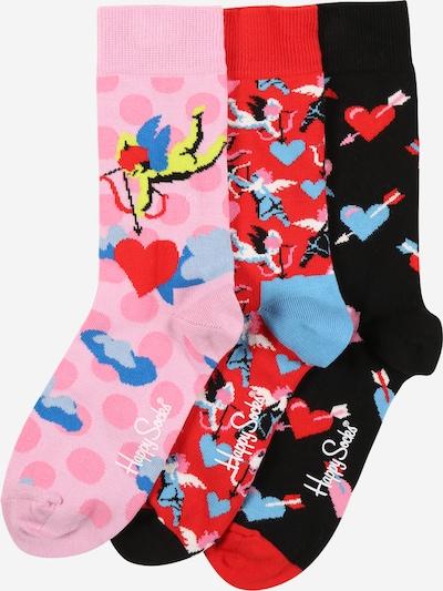 Happy Socks Sokken 'I Love You' in de kleur Blauw / Pink / Rood / Zwart, Productweergave