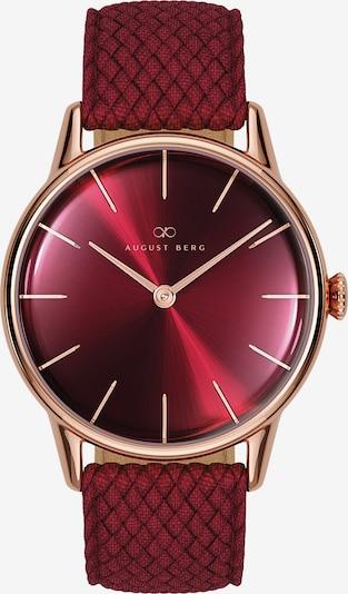 August Berg Uhr 'Serenity Burgundy Burgundy Perlon 32mm' in rosegold / rot, Produktansicht