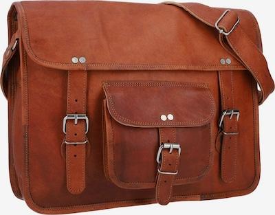 Gusti Leder Messenger Bag 'Gusti Leder Nick' in braun: Frontalansicht