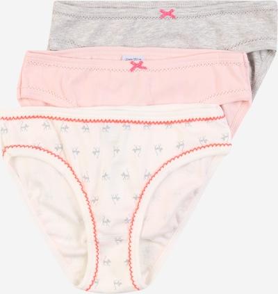 PETIT BATEAU Unterhose in graumeliert / pastellpink / hellpink, Produktansicht