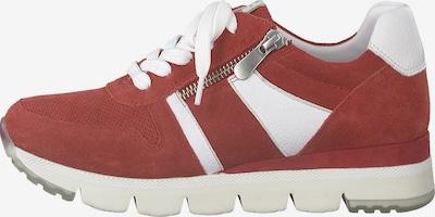 MARCO TOZZI Baskets basses en rouge sang / blanc, Vue avec produit