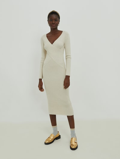 EDITED Pletené šaty 'Poppy' - béžová, Model/-ka
