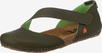 ART Ballet Flats with Strap in Green