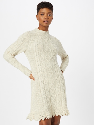 Polo Ralph Lauren Gebreide jurk 'ARAN' in Beige