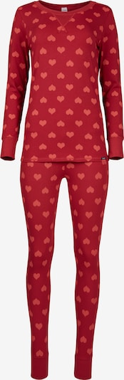 Skiny Pajama 'Valentine Special' in Red / Light red, Item view