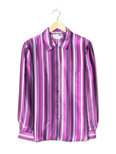 Leslie Fay Bluse in M in lila, Produktansicht