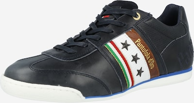 PANTOFOLA D'ORO Sneakers low in cobalt blue / green / dark red / white, Item view