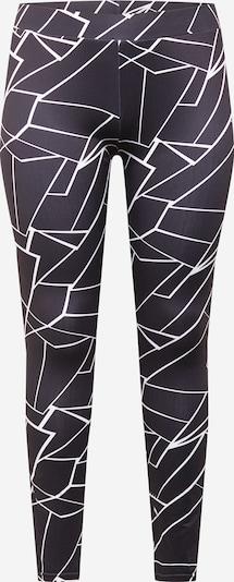 Urban Classics Leggings en noir / blanc, Vue avec produit