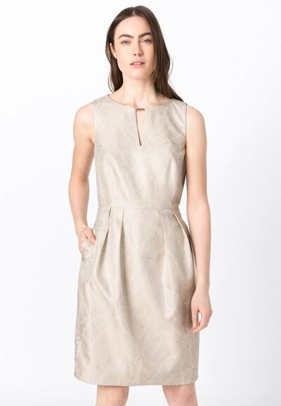 HALLHUBER Kleid in champagner / weiß, Modelansicht