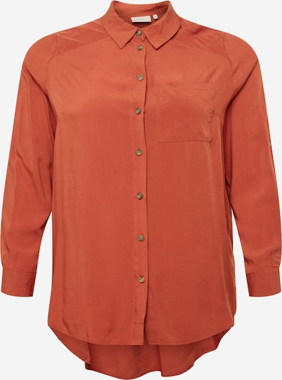 Bluză ONLY Carmakoma pe maro ruginiu, Vizualizare produs