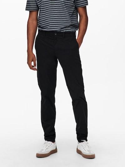 Only & Sons Chinosy 'Cam' w kolorze czarnym, Podgląd na modelu(-ce)