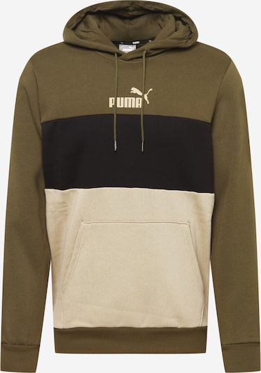 PUMA Sport sweatshirt i beige / khaki / svart, Produktvy