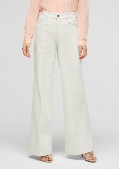 s.Oliver BLACK LABEL Jeans in offwhite, Modelansicht