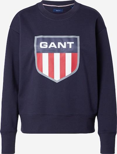 GANT Sweatshirt in marine blue / Dark grey / Red / White, Item view
